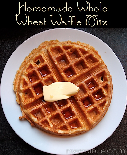 DIY Whole Wheat Waffle Mix