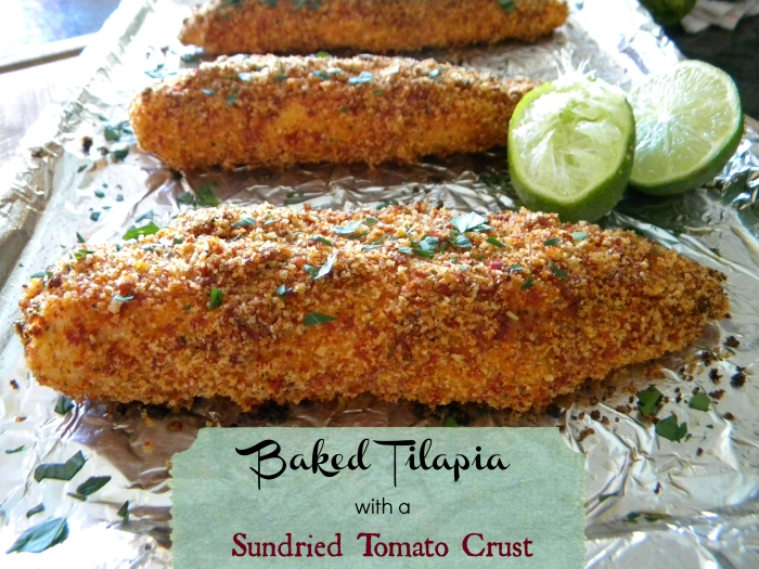 Baked Tilapia with a Sundried Tomato Crust
