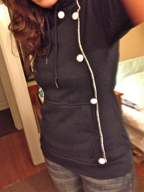 upcycled sweat shirt