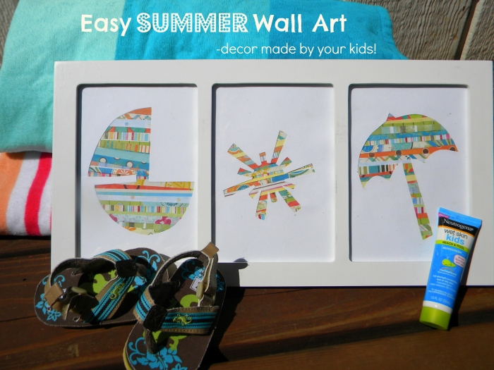 Easy Wall Art- Summer update