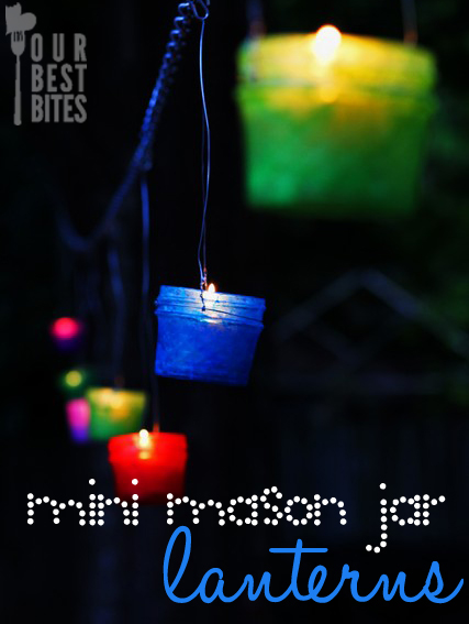 mini mason jar lanterns
